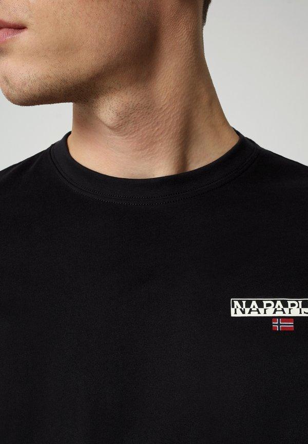 Napapijri ICE - Bluzka z długim rękawem - black/czarny Odzież Męska FJYU