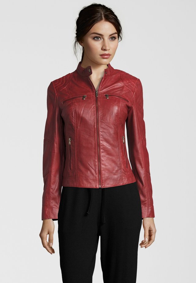 MIRACLE - Leather jacket - blood red (3617)