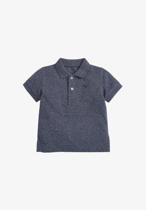 SHORT SLEEVE TEXTURED POLOSHIRT - Polo shirt - blue