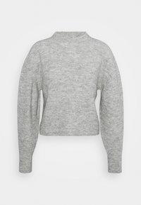 CHEVRON CROP - Jumper - grey marl