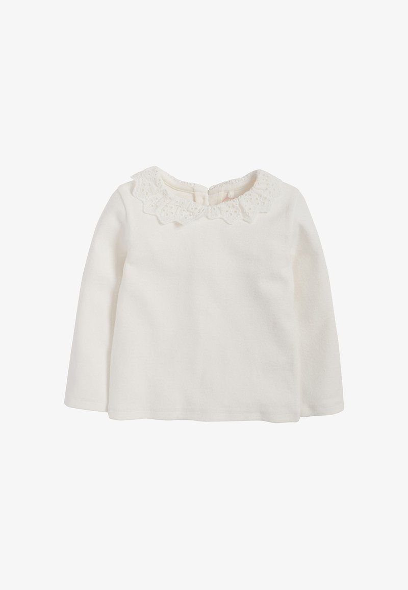 Next - BRUSHED BRODERIE COLLAR  - Longsleeve - off-white