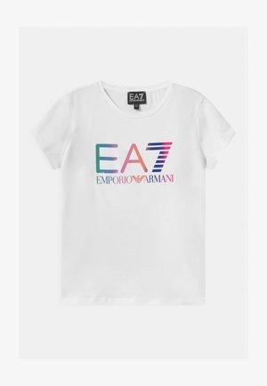EA7  - Triko spotiskem - white
