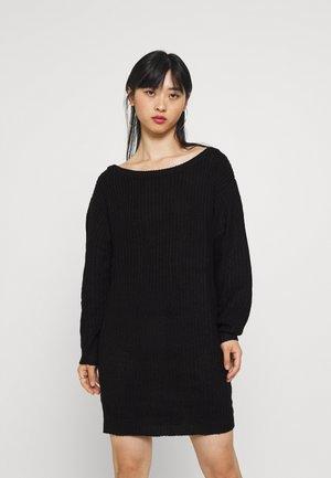 AYVAN OFF SHOULDER JUMPER DRESS - Jumper dress - black