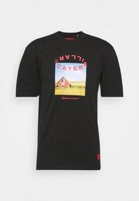 Caterpillar - WORKWEAR TEE - T-shirt z nadrukiem - black - 3