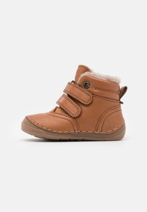 PAIX WINTER SHOES WIDE FIT UNISEX - Baby shoes - cognac