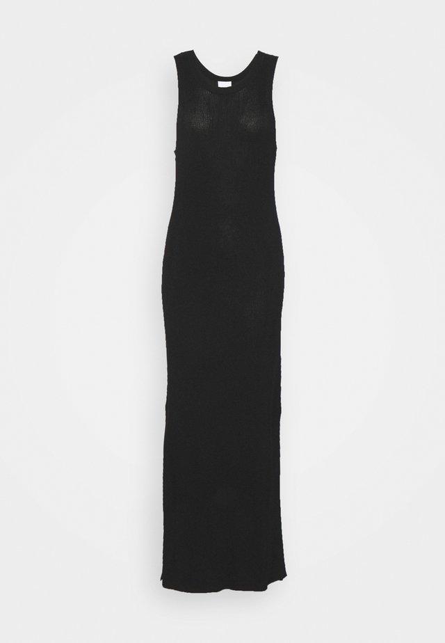 DIANA - Gebreide jurk - jet black