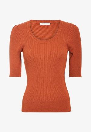 Pullover - marron cognac