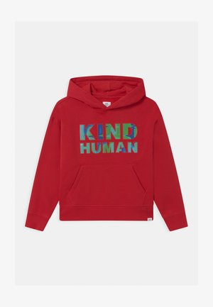 BOY GRAPHIC HOOD - Sweatshirt - modern red
