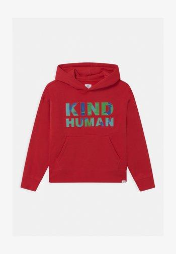 BOY GRAPHIC HOOD - Sweatshirt - modern red