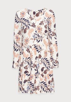 DRESS WITH FLOUNCE - Vardagsklänning - white