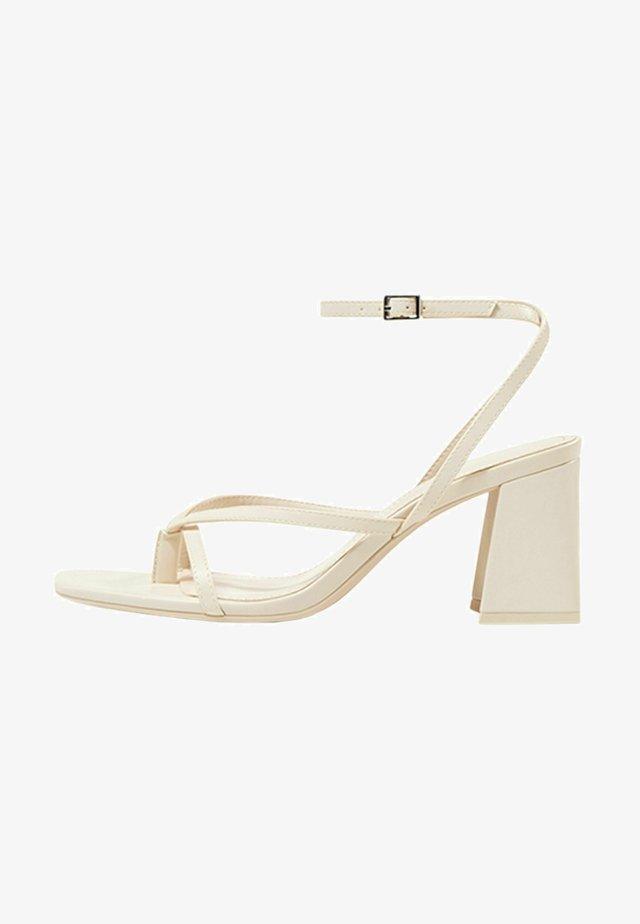 Sandalen met hoge hak - off-white