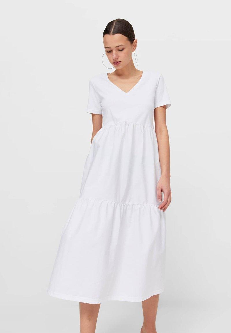 Stradivarius - Korte jurk - white
