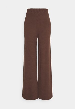 NA-KD X ZALANDO EXCLUSIVE - FLUFFY PANTS - Trousers - nougat