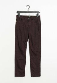 PETER HAHN - Trousers - purple - 0