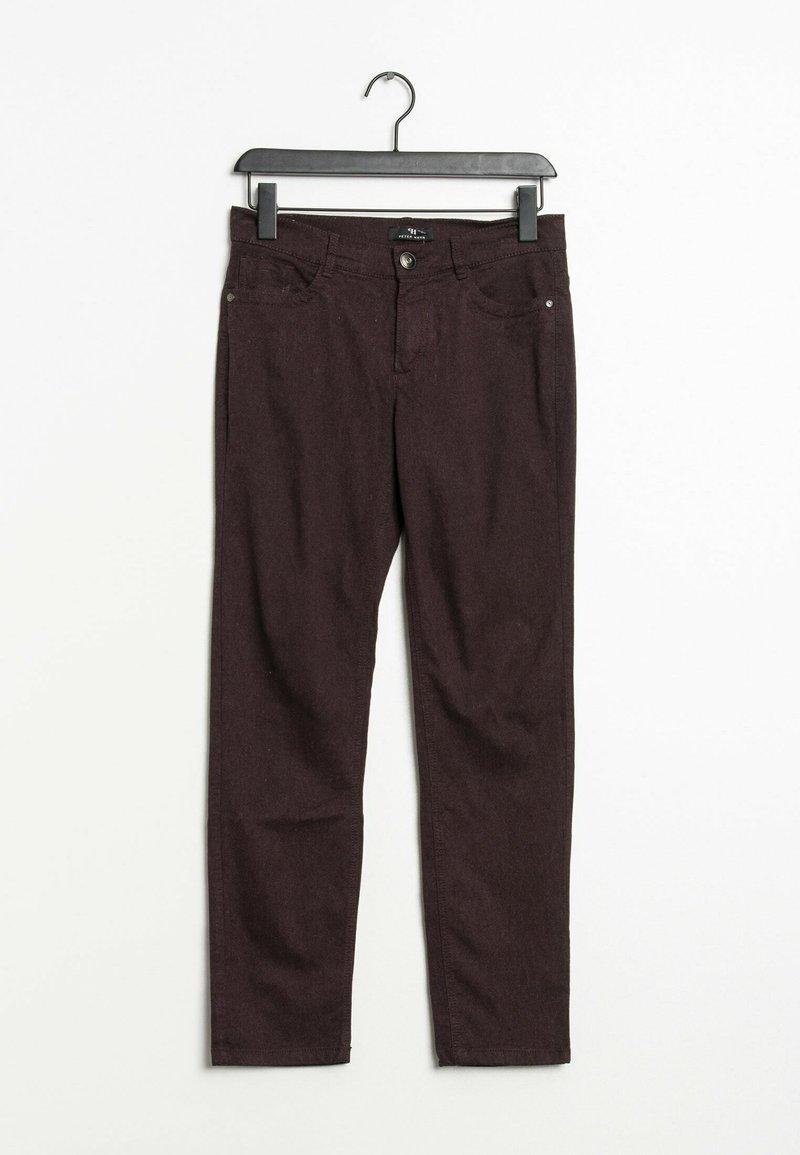 PETER HAHN - Trousers - purple