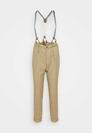 PANT - Trousers - tan/multi
