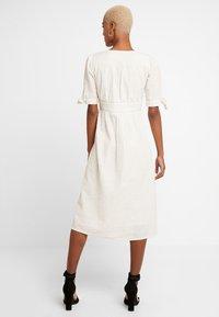 Vero Moda - VMMILA CALF DRESS - Shirt dress - snow white/oatmeal - 3