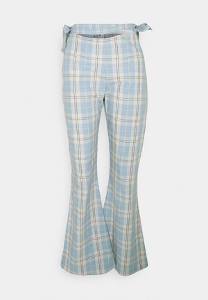 PLAID  - Trousers - dusty blue