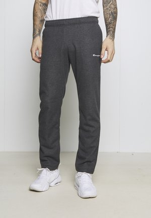 STRAIGHT HEM PANTS - Spodnie treningowe - mottled dark grey