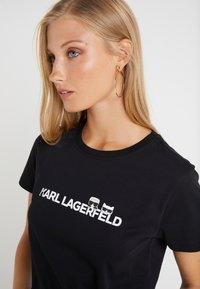 KARL LAGERFELD - IKONIK LOGO - T-shirts med print - black - 5