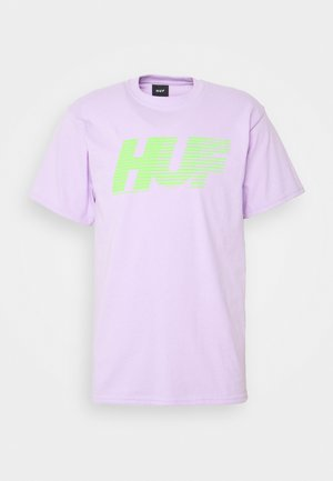 LINED UP TEE - T-shirt print - lavender