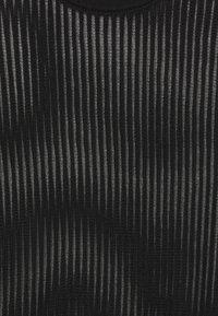 Calvin Klein Jeans - NECK SEE THROUGH  - Jumper - black - 2