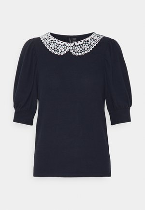 VMTAMIRA COLLAR - Print T-shirt - night sky/snow white