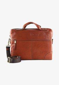 Saddler - Briefcase - midbrown - 0