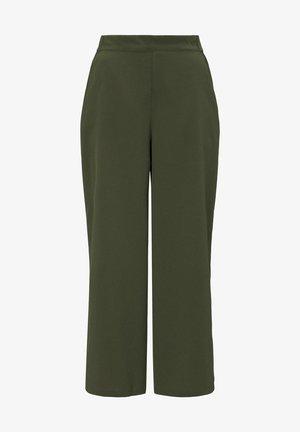 HOSEN & CHINO CULOTTE HOSE MIT BINDEGÜRTEL - Trousers - dusty rifle green