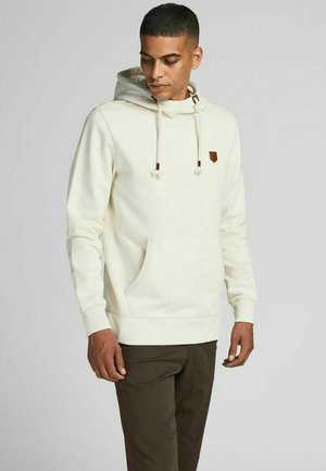 JPRBLUDAN HIGH NECK HOOD  - Sweatshirt - whisper white