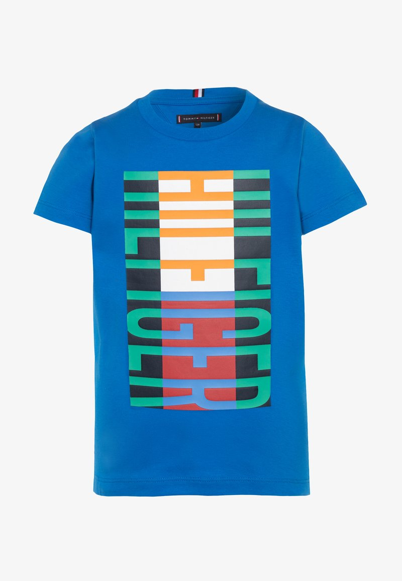 Tommy Hilfiger - FUN FLAG TEE  - Print T-shirt - blue