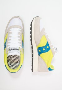 Saucony - JAZZ ORIGINAL VINTAGE - Trainers - white/neon yellow - 1
