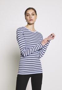 GAP - CREW - Topper langermet - blue stripe - 0