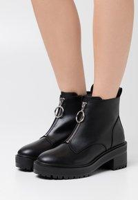 Even&Odd Wide Fit - Kotníková obuv - black - 0