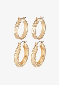 Pieces - PCNIELLA HOOP EARRINGS 2 PACK  - Náušnice - gold-coloured - 1