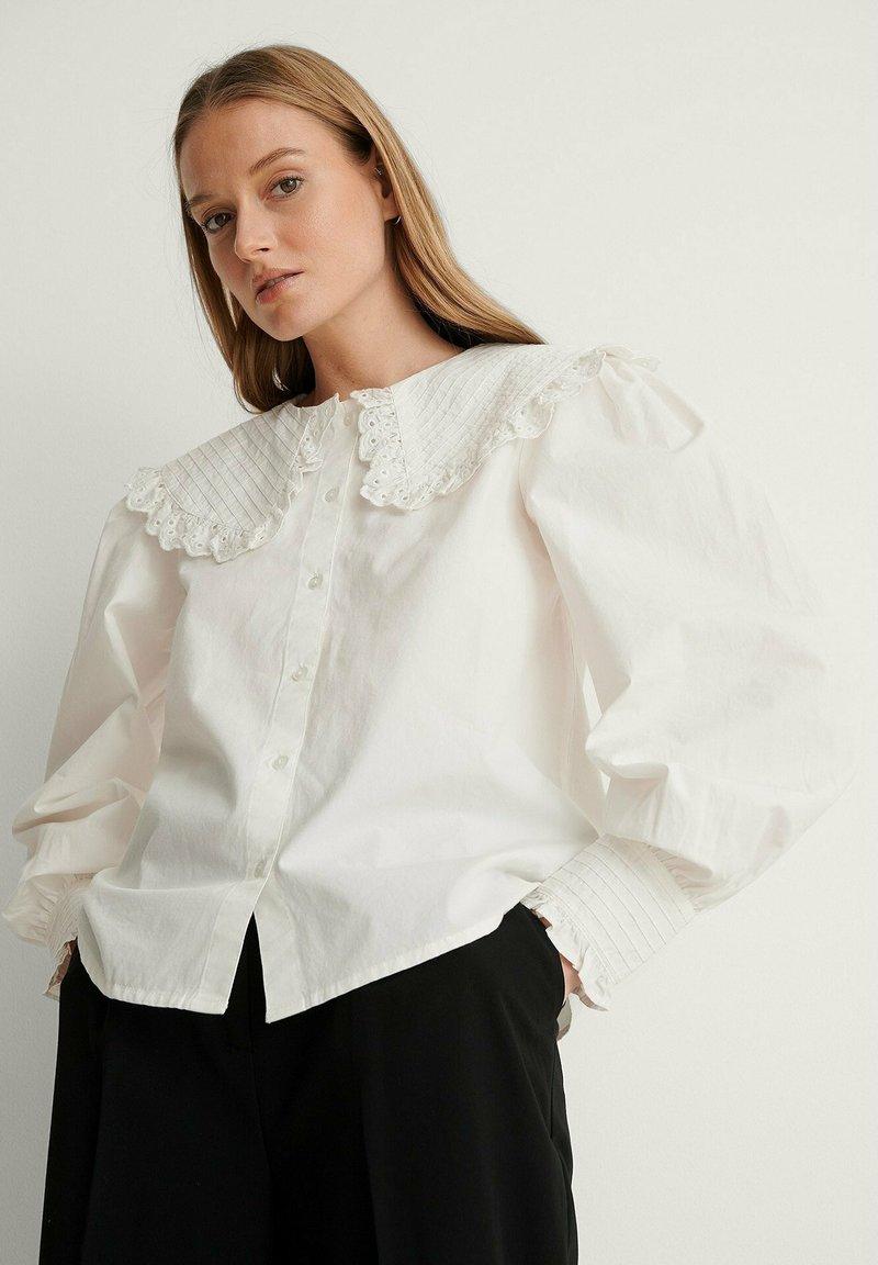 NA-KD - Button-down blouse - white