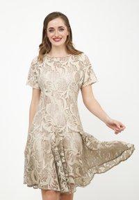 Madam-T - SACASA - Cocktail dress / Party dress - beige - 0