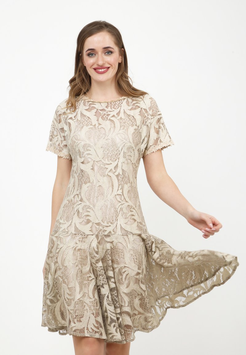 Madam-T - SACASA - Cocktail dress / Party dress - beige