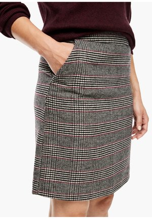 Pencil skirt - beige glencheck