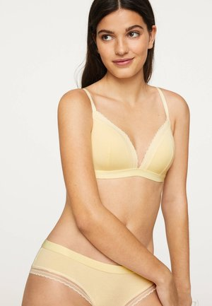 FLORAL - Triangle bra - yellow