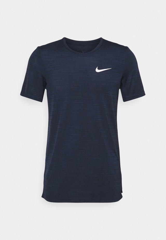DRY SUPERSET - T-shirt basic - obsidian/white
