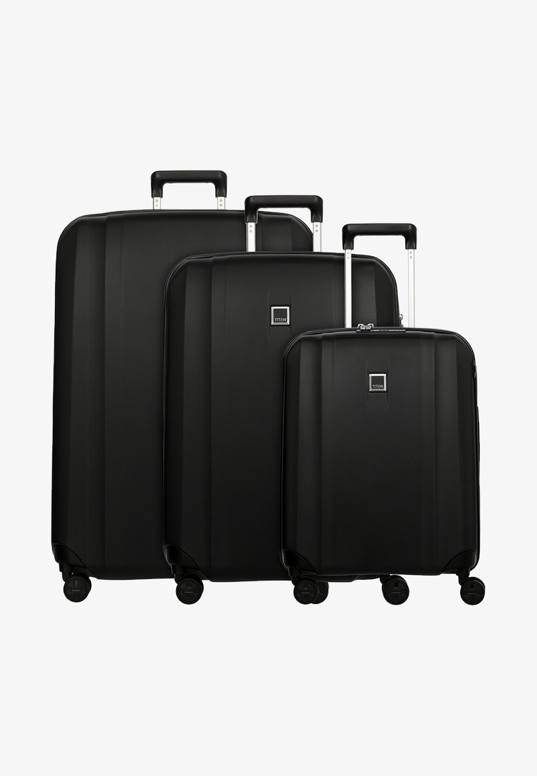 Titan - 3 SET - Luggage set - black