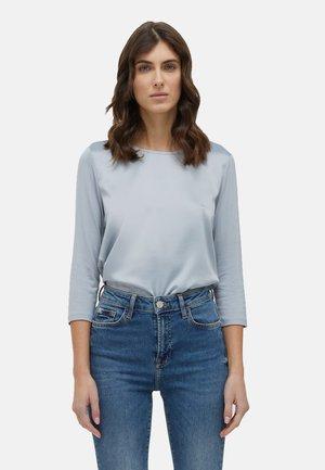 EN DEUX TISSUS - Long sleeved top - grigio