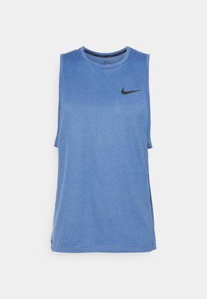 TANK DRY - Sports shirt - mystic navy/stone blue/heather/black