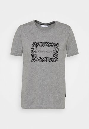 REGULAR FIT LEO BOX TEE - T-shirt con stampa - mid grey heather