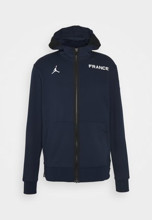 FRANCE THERMAFLEX SHOWTIME HOODIE - Felpa con zip - college navy/white