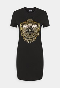 Versace Jeans Couture - Vestito di maglina - black-gold - 6