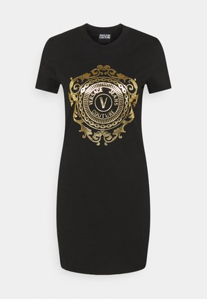 Jersey dress - black-gold
