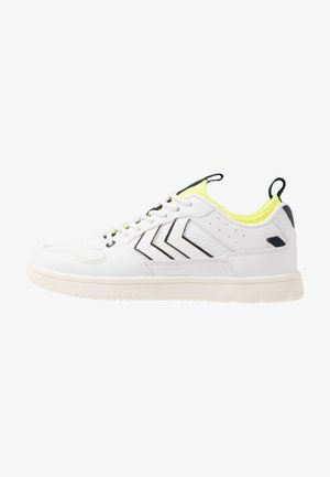 POWER PLAY MID  - Trainers - white/safety yellow