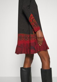 Desigual - NAGOYA - Vestito estivo - anthrazite/dark red - 5